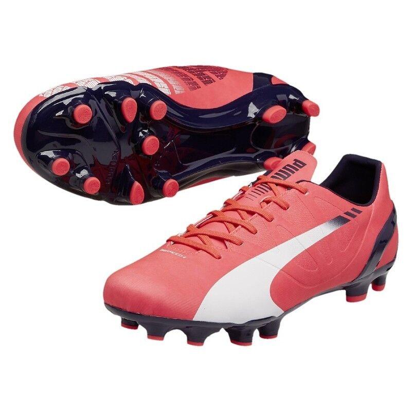 Puma evoSPEED 4.3 FG Fußballschuhe pink   white [103018-04]