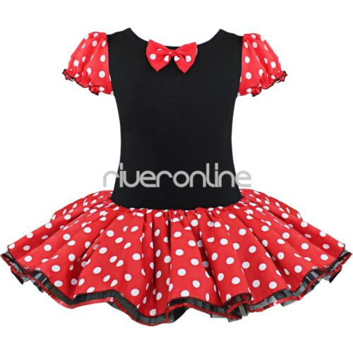 Kids Girls Baby Toddler Minnie Mouse Costume Birthday Party Tutu Dress Headband