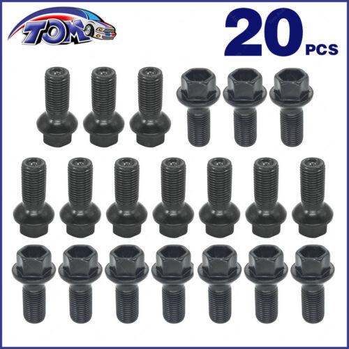 New Set of 20 Lug Bolts For Mercedes W204 W163 W251 W230 0009908307