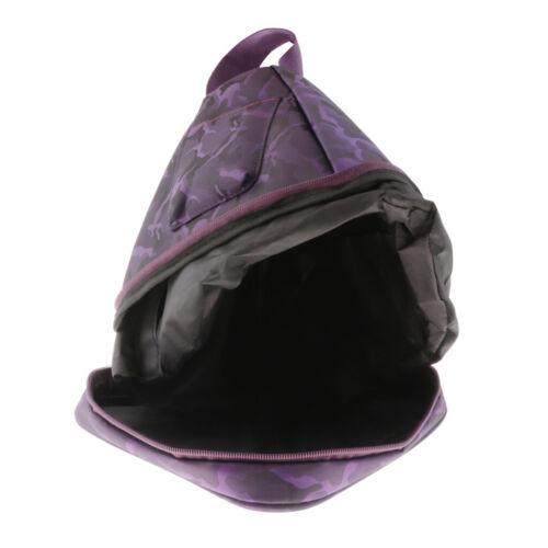 reisende Tragetasche des Kristallgesangpyramidenfalles 7inch purpurrote