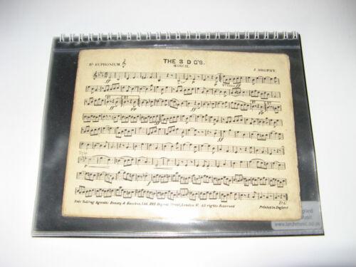 Folio A5 spiral bound 5 inserts10 Marches Wind Band Brass Marching Folder