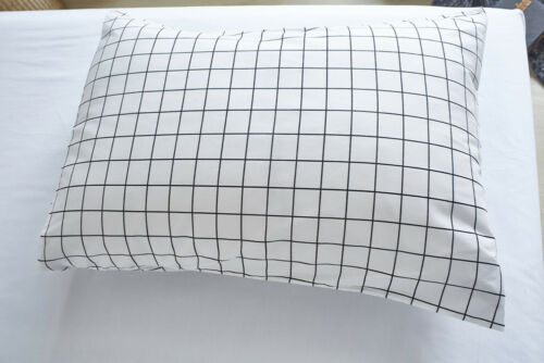 White Grid Bedding Set Duvet//Quilt Cover Pillow Case Twin//Queen//King All Size
