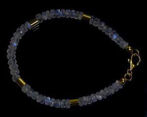 MONDSTEIN-BLAU-Armband-925-Silber-vergoldet-Armkette-Z351
