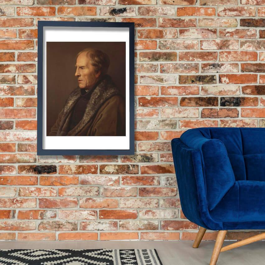 Caspar David Friedrich - Carl Johann Baehr Wand Kunst Poster Drucken