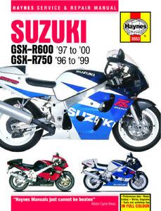 1996 2000 suzuki gsxr600 gsxr750 gsxr 600 750 haynes repair manual rh ebay com 1995 Suzuki Gsxr 750 2000 suzuki gsxr 750 service manual download