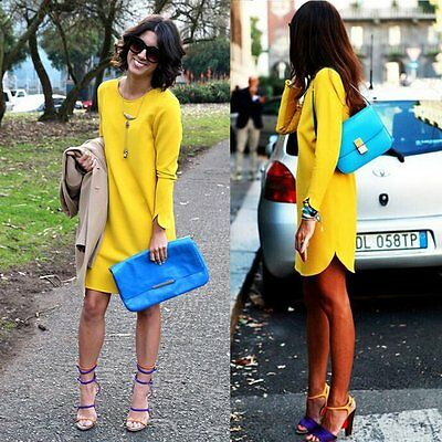 Fashion Women Summer Bodycon Long Sleeve Evening Sexy Party Cocktail Mini Dress