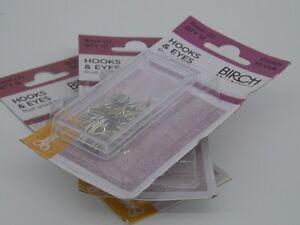 HOOKS-amp-EYES-BIRCH-SILVER-Rustproof-Brass-Select-by-Size-9mm-11mm12mm