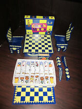 MUFFY and Hoppy VANDERBEAR Check Mates Chess Game,Table & Chairs EXCELLENT Cond