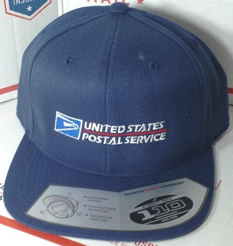 f0685869b259c USPS Postal Flexfit Dark Navy Wool Blend Flat Bill Snapback Hat With Postal  Logo for sale online