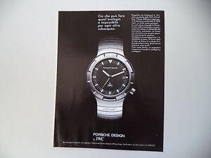 design senza tempo 03262 0fb27 Dettagli su advertising Pubblicità 1991 OROLOGIO PORSCHE DESIGN IWC