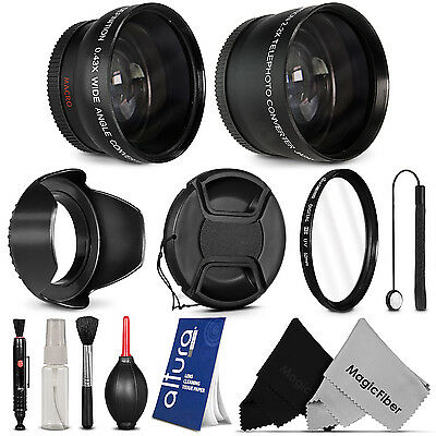 52MM Wide Angle & Telephoto Lens + Accessories for Nikon D5300 D5200 D3300 D3200