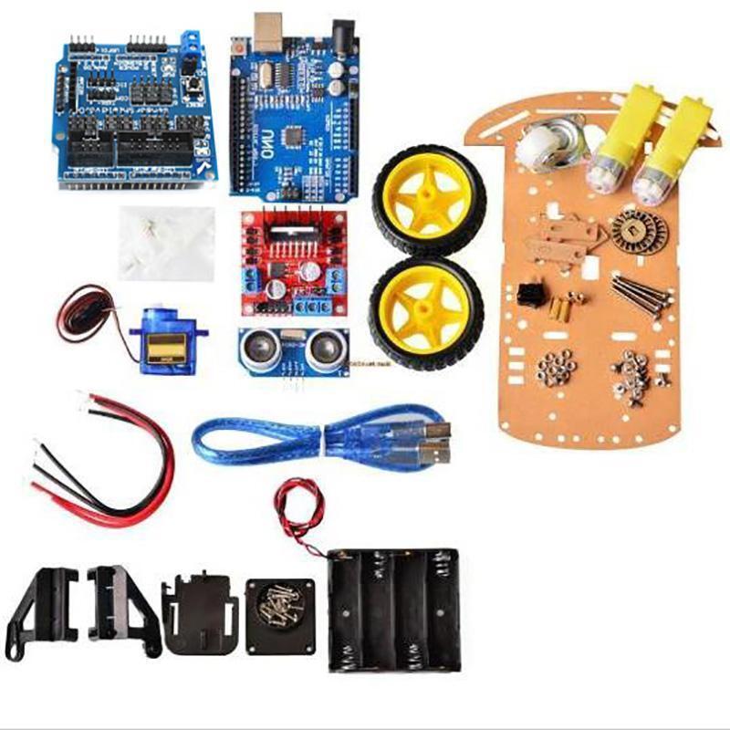 2WD Smart Car Tracking Motor Smart Robot Car Chassis Kit Ultrasonic Arduino MCU