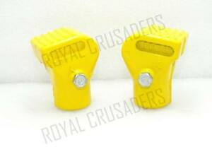 NEW-VESPA-ALLOY-STAND-FEET-PAIR-PX-T5-LML-YELLOW-VP452