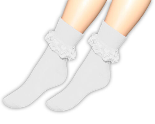 FRILLY ANKLE LACE SOCKS FOR LADIES