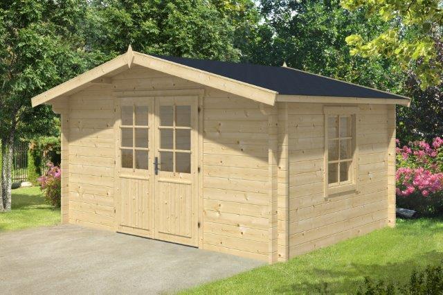 44 mm Gartenhaus ca. 400x300 cm Gerätehaus Blockhaus Schuppen Holzhaus Holz