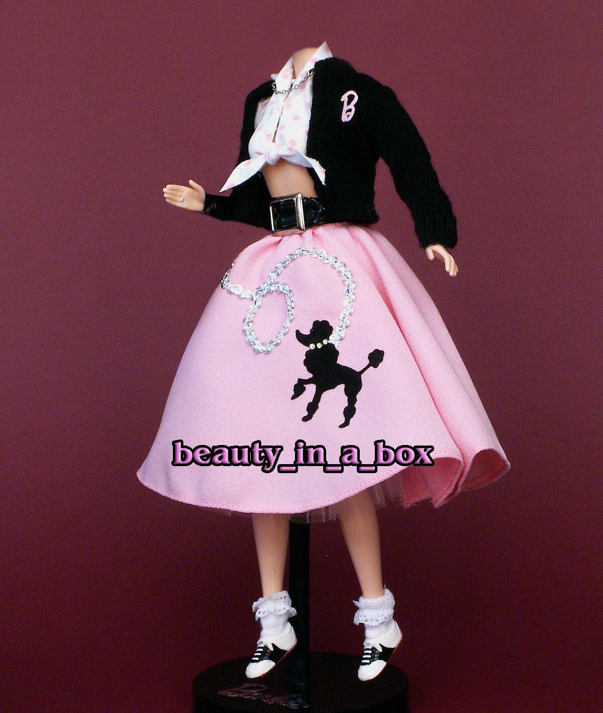Nifty años cincuenta clásico años 50 Caniche Falda Moda Ropa Para Barbie Muñeca