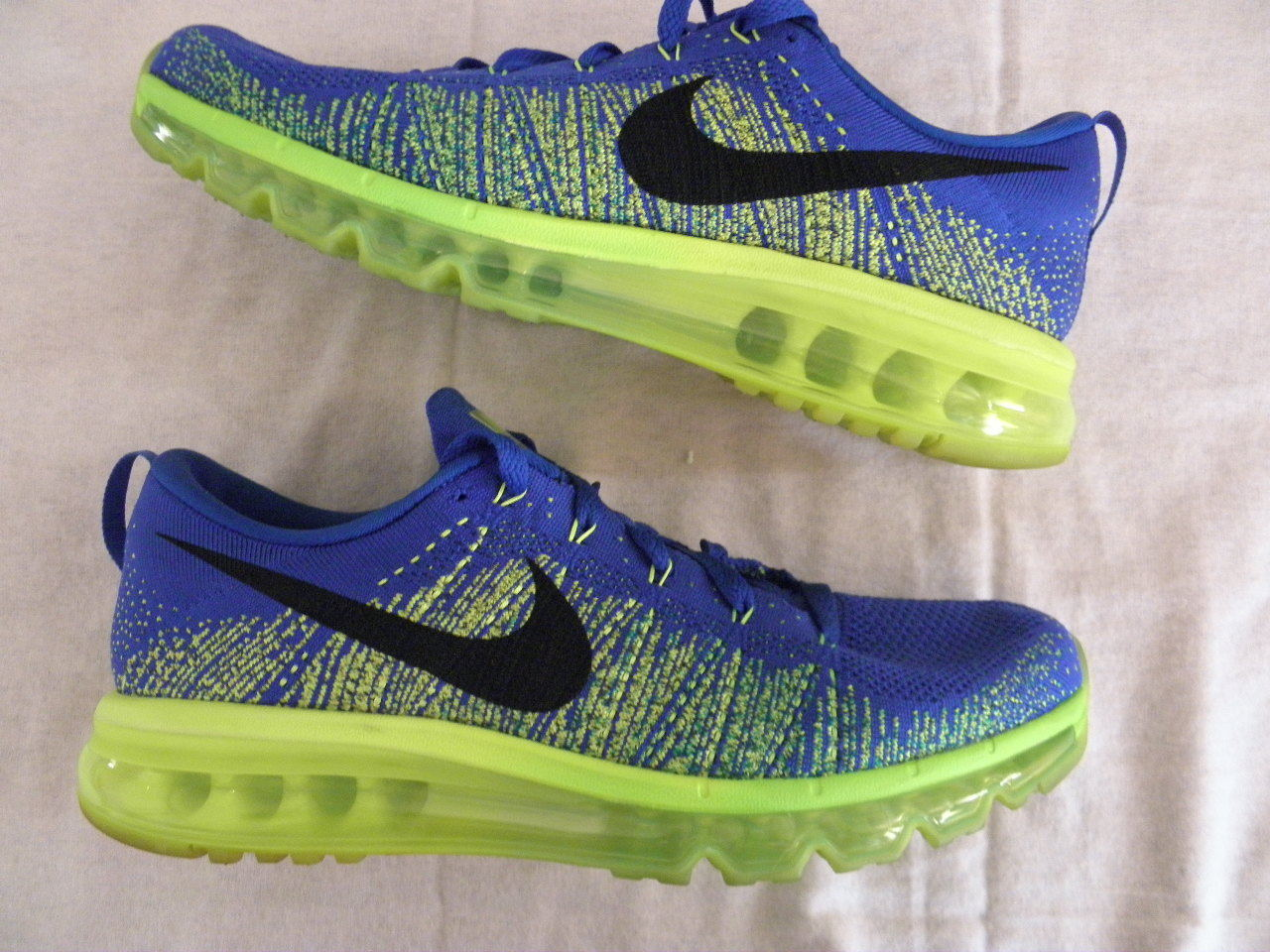 Nike Air Max Flyknit Max Air s 10.5 VNDS WORN ONCE blue green Sprite Fly Knit 2016 95 97 59bd7f