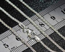 Solido Argento Sterling (925) 18 pollici Donna Chain 2.8g - 2mm-forte e durevole