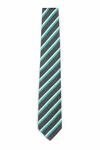 Borrelli Napoli hand made black silk neck tie New w tags B93