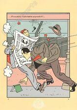 Affiche Sérigraphie Jacobs Blake et Mortimer Le journal Archives secrètes 35x50