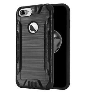 Details about Men Boy Style Defender Armor Black Case Cover for Apple iPhone 8 Plus