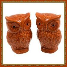 Fall Harvest Owl Salt and Pepper Shaker Set ~ Thanksgiving ~ Cabin Decor