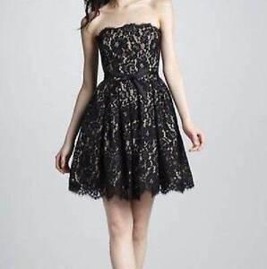 e8d8a14c71 NWT Robert Rodriguez Target Neiman Marcus Black Beige Lace Dress 6 8 ...