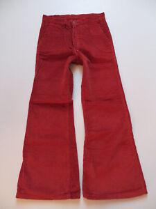 Levi-039-s-Cord-Schlag-Jeans-Hose-W-30-L-30-ROT-Original-70-039-er-Hippie-Cordhose