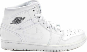 4bff60ab326951 Nike Men s Air Jordan 1 Mid Shoes NEW AUTHENTIC White Cool Grey ...