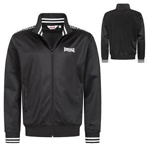 Lonsdale Black Tricot Training Track Jacke Jogging Jacket Regular-Fit Graffham