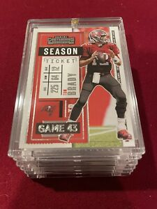 TOM BRADY CONTENDERS 2020 TAMPA BAY BUCS SUPER BOWL INVESTMENT CARD - MINT!