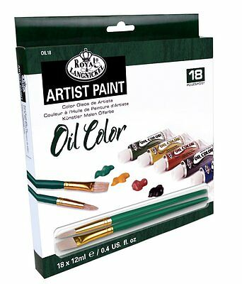 Royal and Langnickel Oil Colour Paint Art Set Of 18 + 2 Brushes