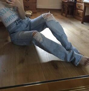 a alta Ksubi jeans alta vintage 24 rilassati a vita vita strappati Jeans boyfriend zPgqP