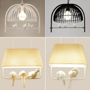 Modern birdcage lampshade ceiling chandelier pendant light bird image is loading modern birdcage lampshade ceiling chandelier pendant light bird aloadofball Image collections