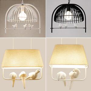 Image Is Loading Modern Birdcage LampShade Ceiling Chandelier Pendant Light  Bird