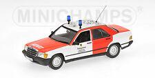 1:43 Minichamps Mercedes Benz 190 E Notarzt-Feuerwehr Aachen 1984 UNIQUE ON EBAY