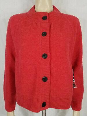 Nwt Jones New York Cabana Strawberry 100% Merino Wool Button Front Jacket Medium