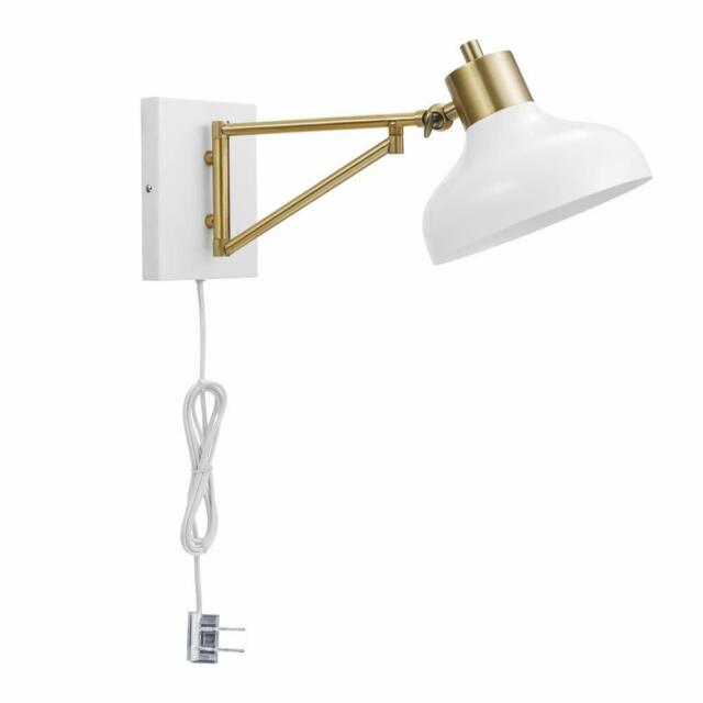 Globe Electric Berkeley 1 Light Plug In Or Hardwire Swing Arm Wall Sconce 51344