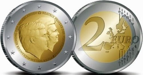 Netherlands 2 euro King 2014 Willem Alexander /& Beatrix Farewell bimetal UNC