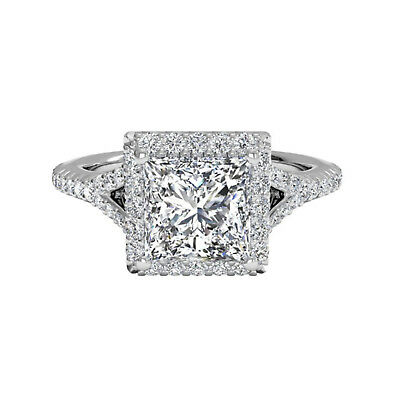 Other Fine Rings 1.10 Ct Princess Moissanite 14k White Gold Engagement Wedding Rings Size N M K L As Effectively As A Fairy Does