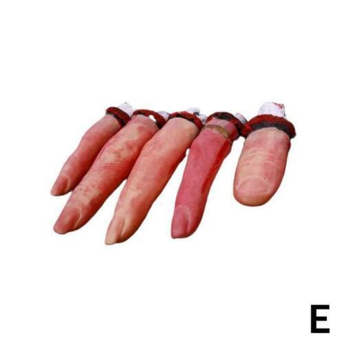 Halloween Horror Requisiten Blutige Hand Spukhaus Party Scary Heikles K2F0