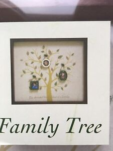 Family Tree Picture Frame Wall Display With 3 Hanging Picture Photo