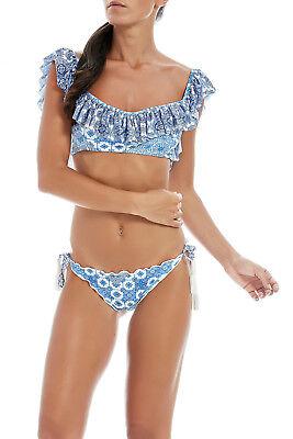Costume Donna Bikini F**K Effek Fk S2X717U Mare Maculato Nappine Nero Nuovo