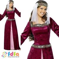 MAID MARION MEDIEVAL ROBIN HOOD DELUXE 8-26 - adults ladies fancy dress costume