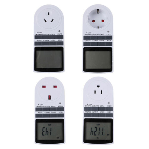 Digital Electrical Timer Plug Socket Weekly Programmable Light Switch~PL