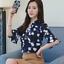Summer-Women-039-s-Floral-Casual-Chiffon-Half-Sleeve-Shirt-Loose-Tops-Blouse-Tee thumbnail 5