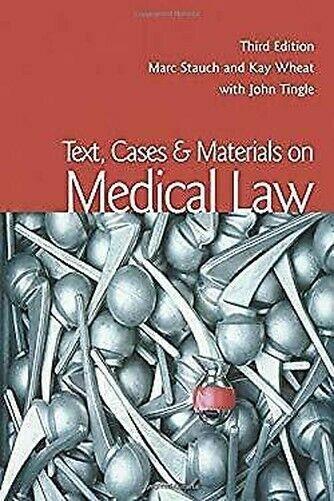 Text, Cases und Materialien auf Medizinischen Karina Law von Stauch,Marc
