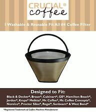 Washable Coffee Filter #4 Cone Black & Decker Braun Cuisinart GE Hamilton Beach