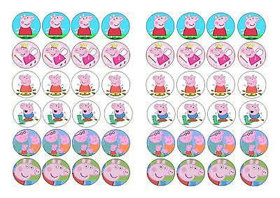48 Edible cake toppers decorations Peppa pig george