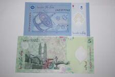 (PL) RM 5 EM + RM 1 ZA 2377702 UNC ZETI LAST & REPLACEMENT SAME FANCY NUMBER
